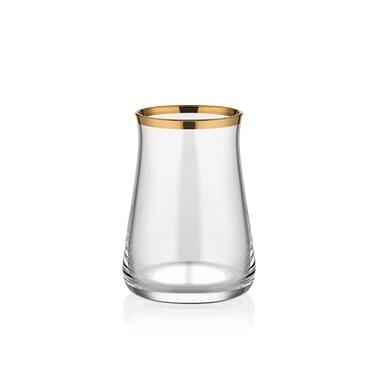 Glore Tarabya Parlak Altın 6'Lı Çay Bardak Seti Altın